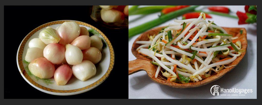 Petits oignons marinés et Haricots germés marinés - Âme du vietnam