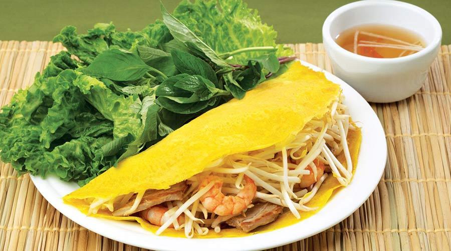 que mange t on au vietnam - banh xeo - crêpe vietnamienne