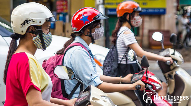 Scooters à Hanoï - Âme du Vietnam