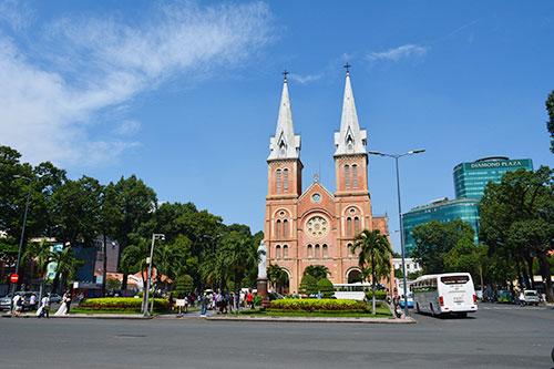 Cathédrale de Notre Dame à Saigon