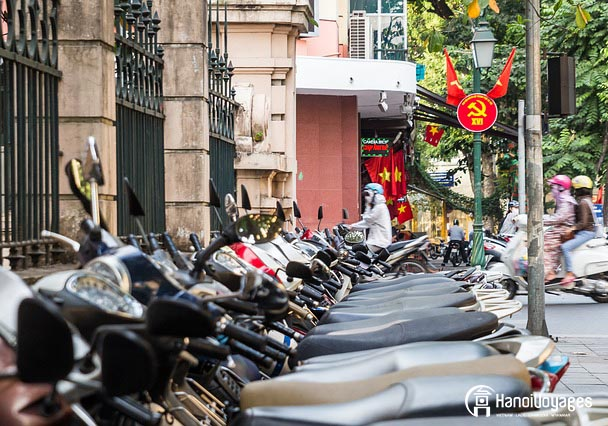 Scooter dans la rue vietnamienne