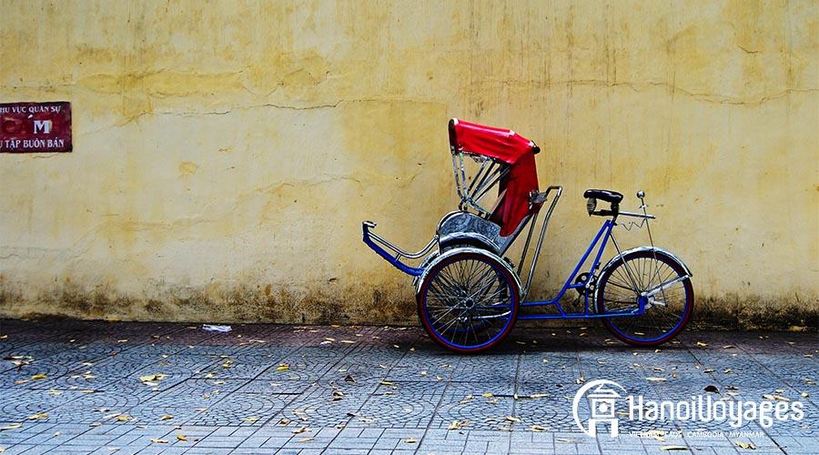 transport Hanoï - Cyclo pousse - - Âme du Vietnam