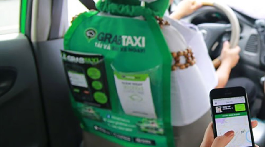transport grab taxi Hanoï - Âme du Vietnam