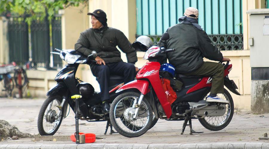 transport Hanoï - mototaxi - Âme du Vietnam