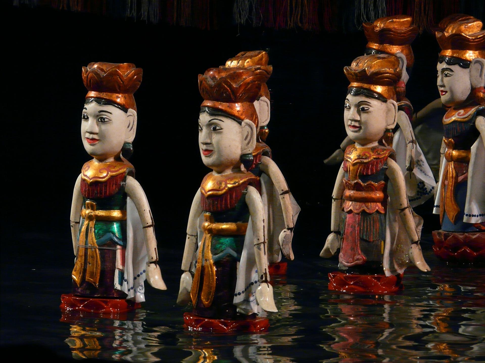 Spectacle des marionnettes sur l'eau - Voyage au Vietnam en famille