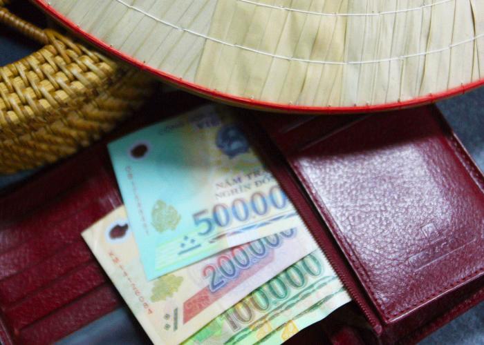 dong monnaie vietnamienne vacances sac