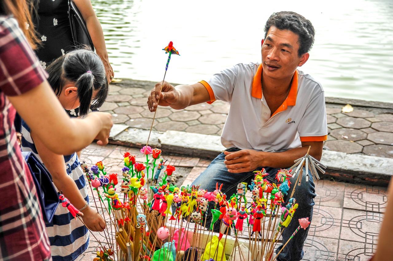 vente marché vietnam
