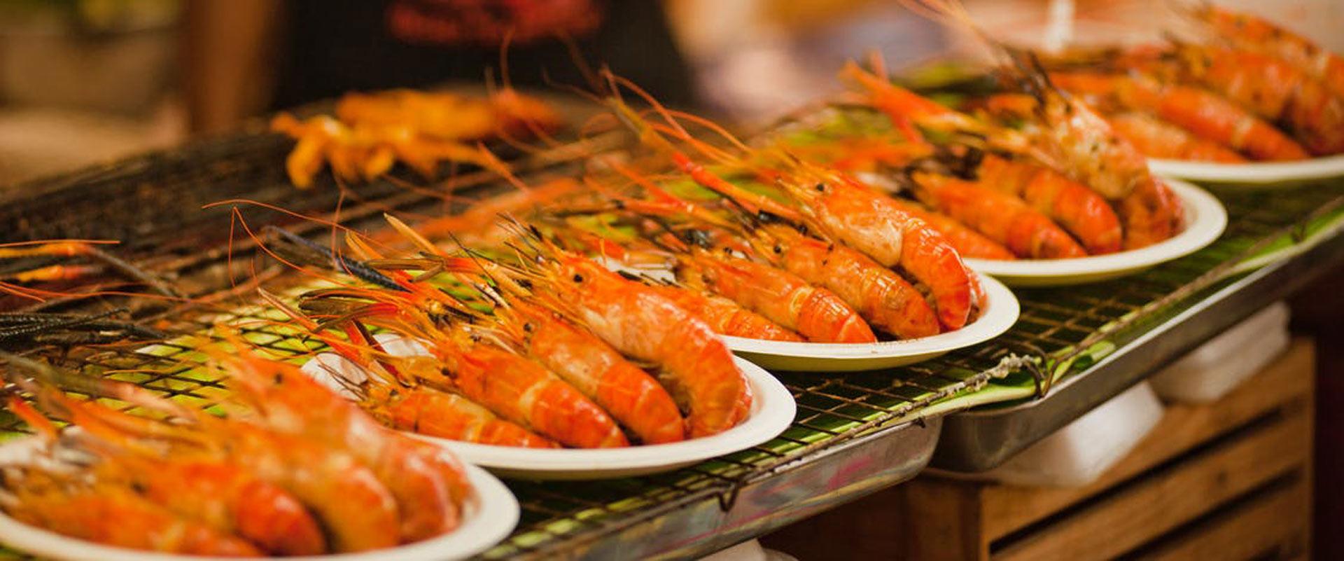 crevettes spécialités culinaires activités à la baie d'Halong