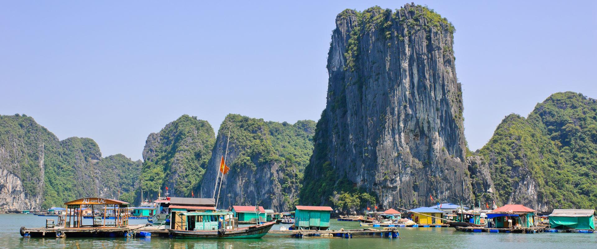 village flottant activités à la baie d'Halong