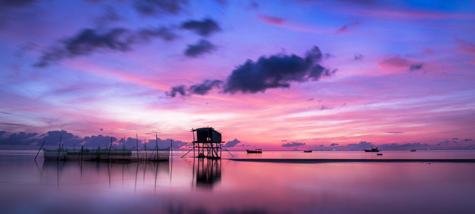 coucher de soleil voyage de noce au Vietnam